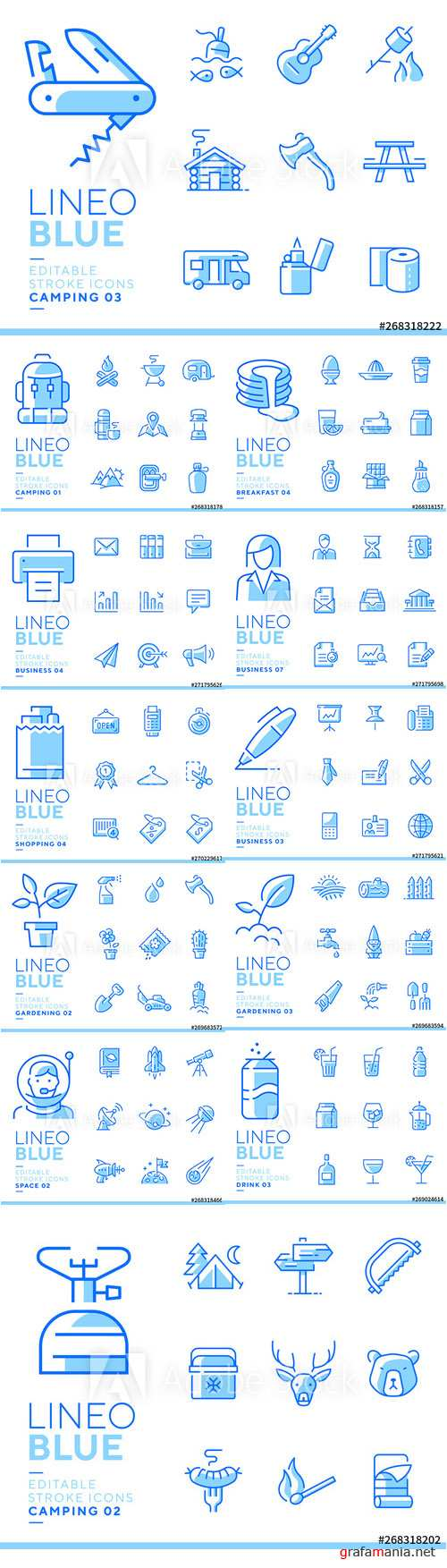 Lineo Blue - Line Icons Vector Pack Vol 2