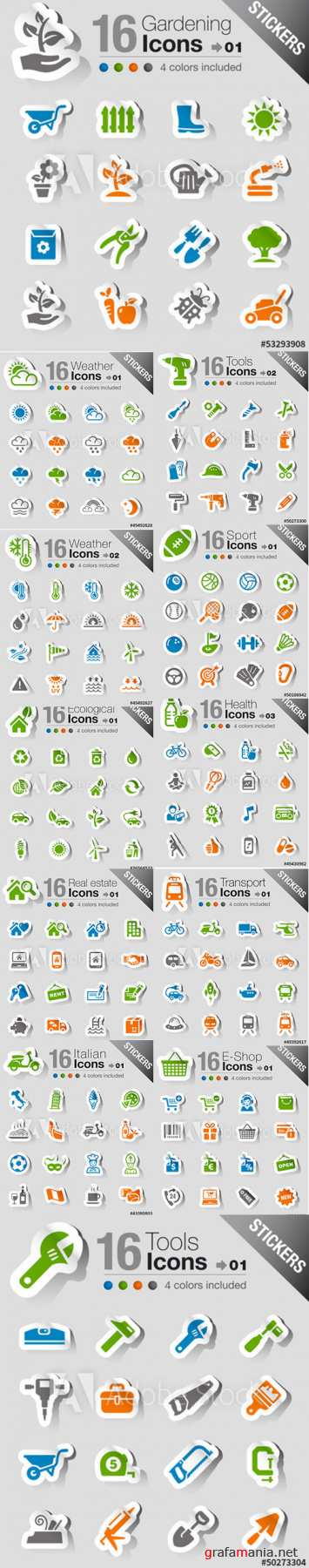 Stickers Icons Pack