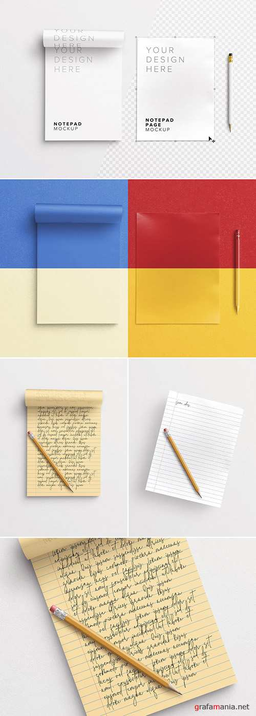 Notepad with Pencil Mockup 292406196 PSDT