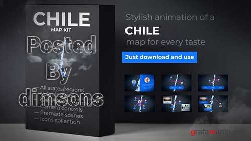 VH - Chile Map - Republic of Chile Map Kit 24816163