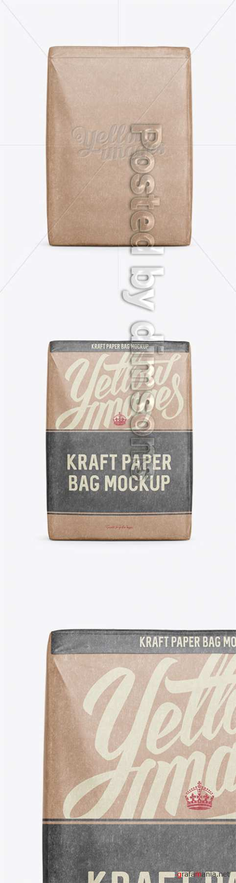 Kraft Paper Bag Mockup - Front View 15978 TIF