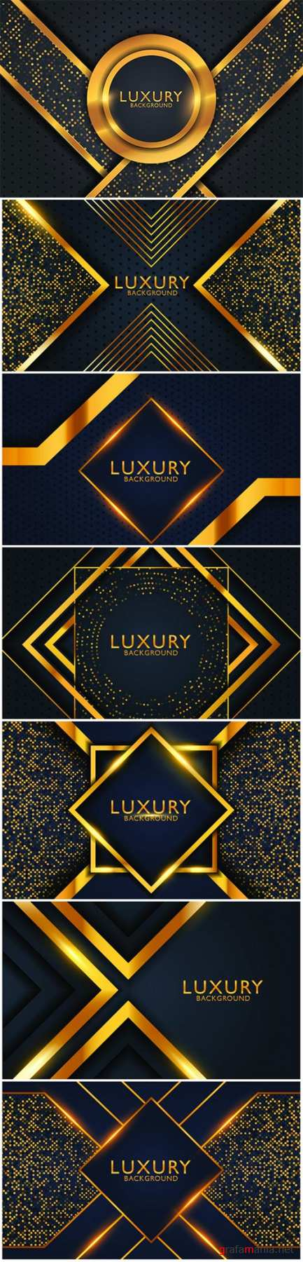 Geometric luxury gold metal background. Graphic design element for invitation, cover