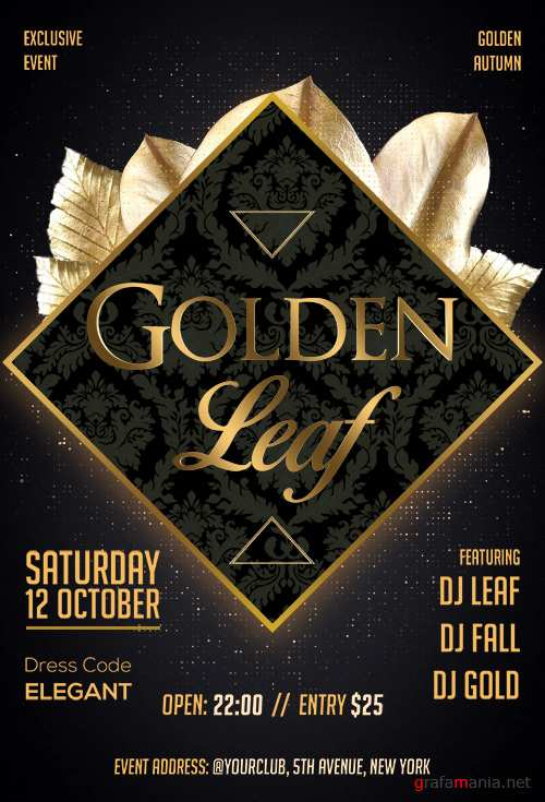 Golden Leaf - Premium flyer psd template