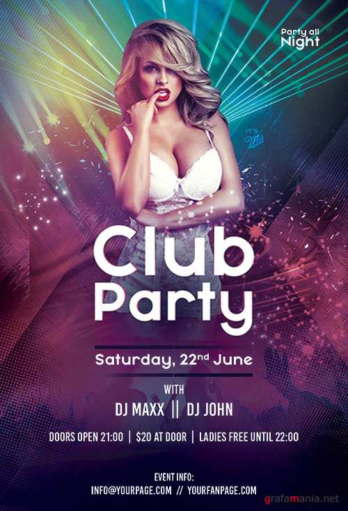 Club Party - Premium flyer psd template
