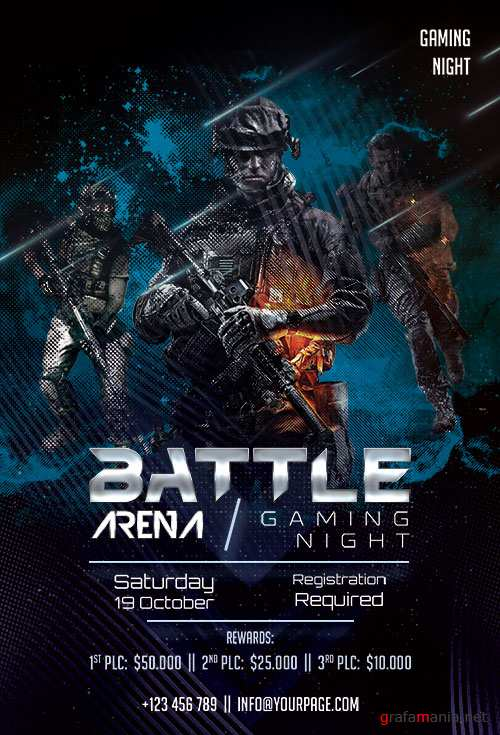 Battle Arena - Premium flyer psd template