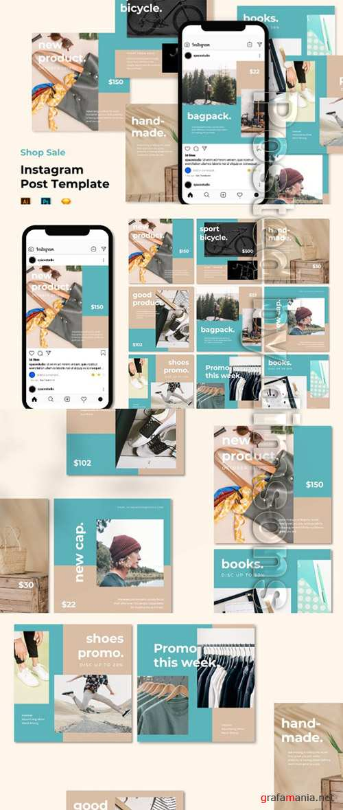 Instagram Post Feed Templates - Minimalist Shop