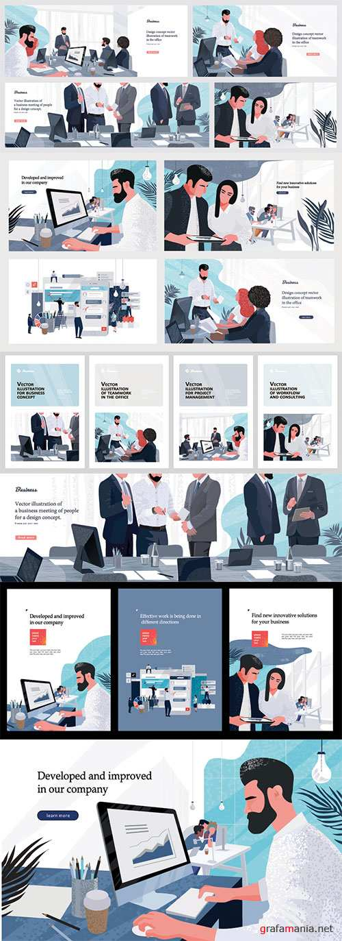 Vector illustrations for business, finance, cover, banner