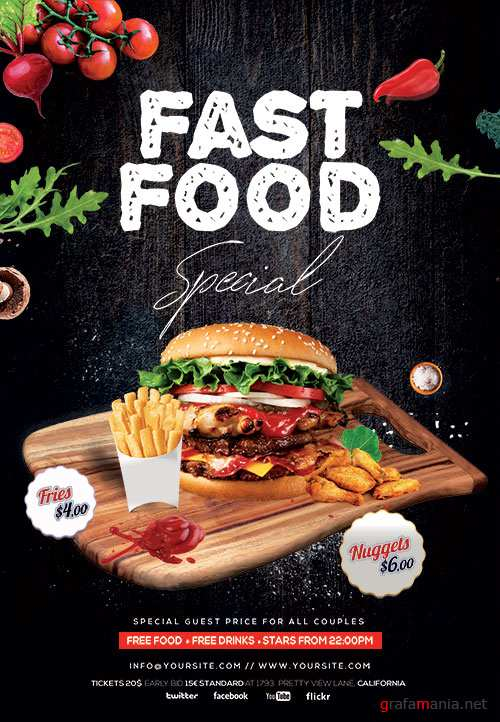 Fast Food Special Psd Flyer Template