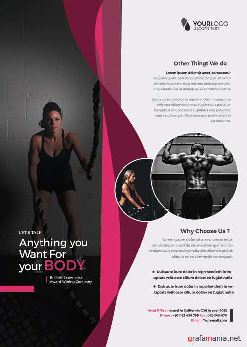 Health & Fitness PSD Flyer Template