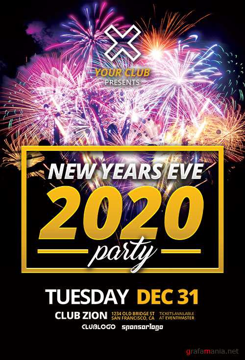 New Years Eve 2020 Flyer Template
