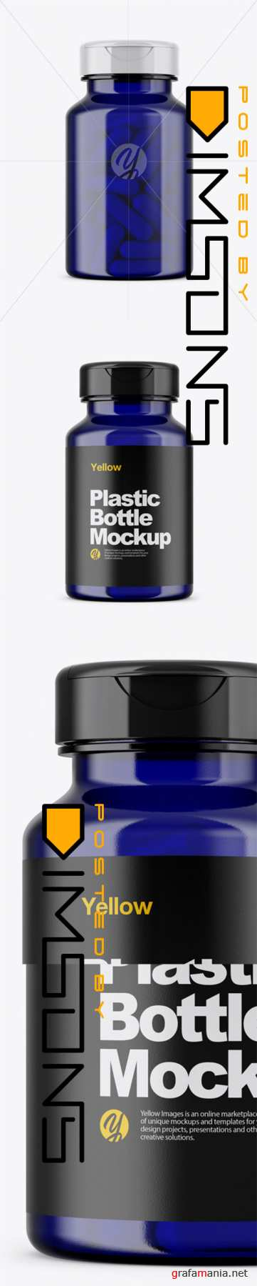 Blue Pills Bottle Mockup 44840 TIF