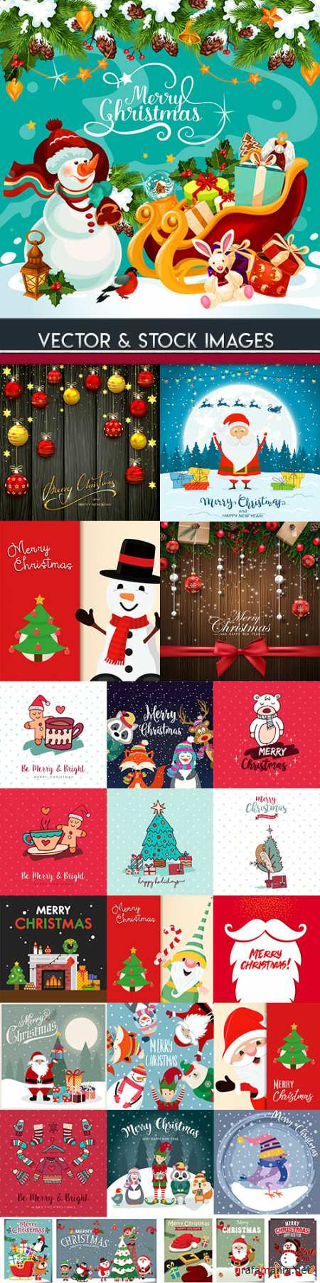Merry Christmas and New Year background decorative 17