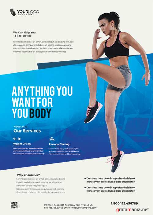 Clean Fitness Psd Flyer