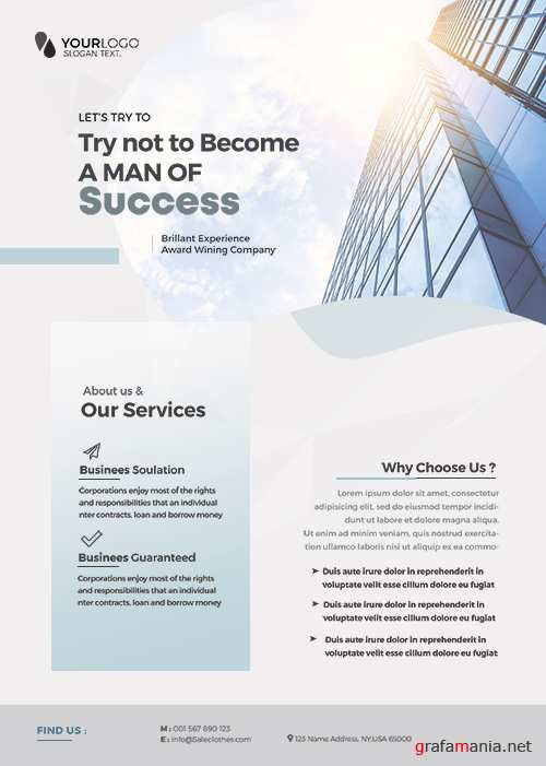 Main_Files Clean Corporate - Premium flyer psd template