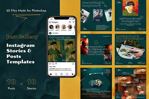 Just Gallery – Instagram Stories & Posts PSD