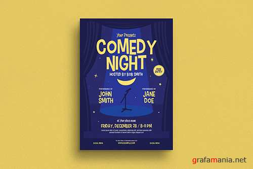 Comedy Night Event Flyer PSD