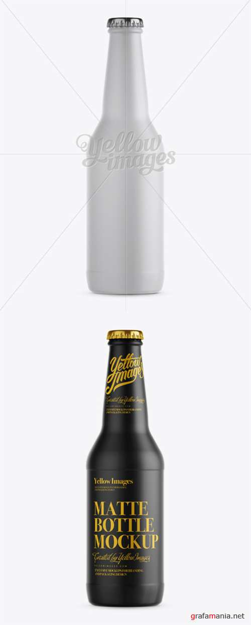 330ml Matte Beer Bottle Mockup 11884 TIF