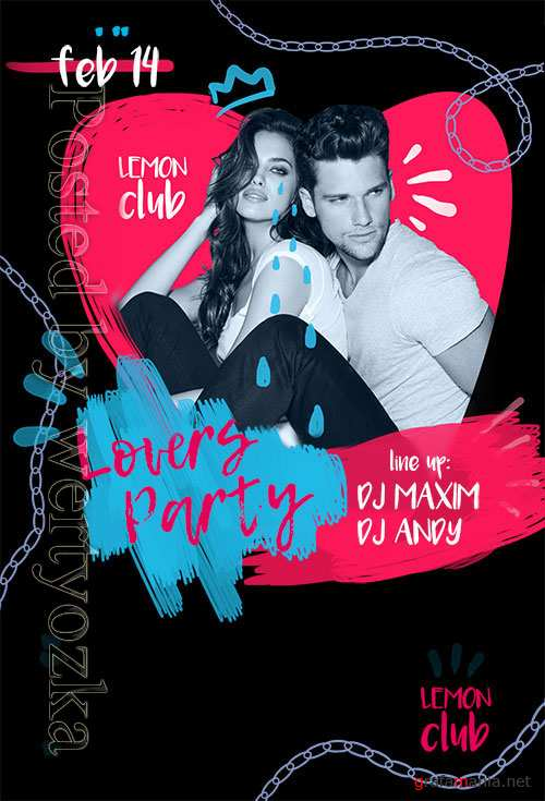 Lovers Party - Premium flyer psd template