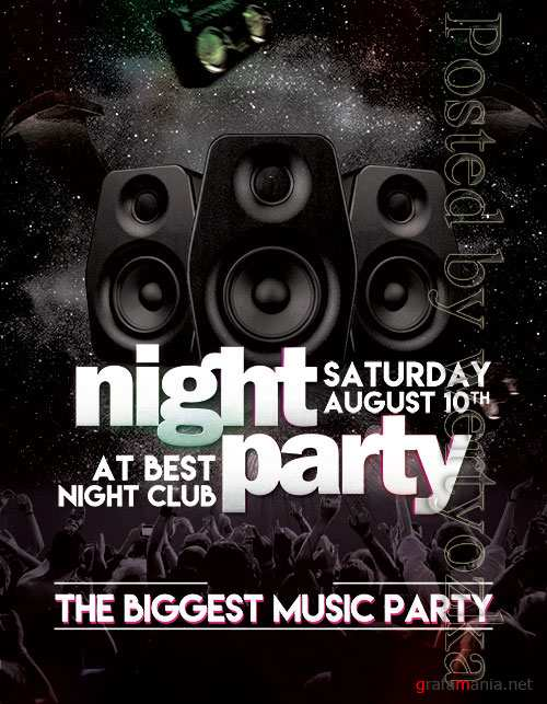 Night Party - Premium flyer psd template