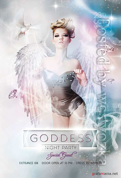 Goddess Night Party - Premium flyer psd template