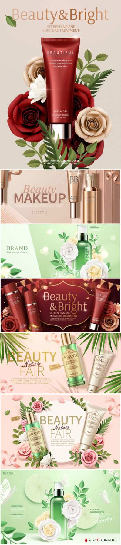 Brand cosmetic design, foundation banner ads # 4
