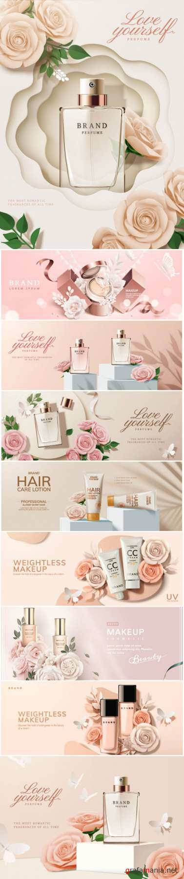 Brand cosmetic design, foundation banner ads # 2