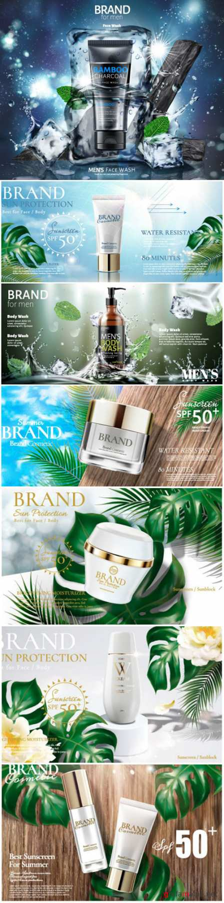 Brand cosmetic design, foundation banner ads