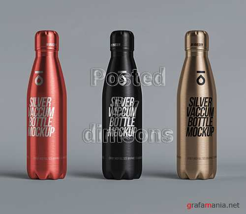 Metal Vacuum Bottle Mockup