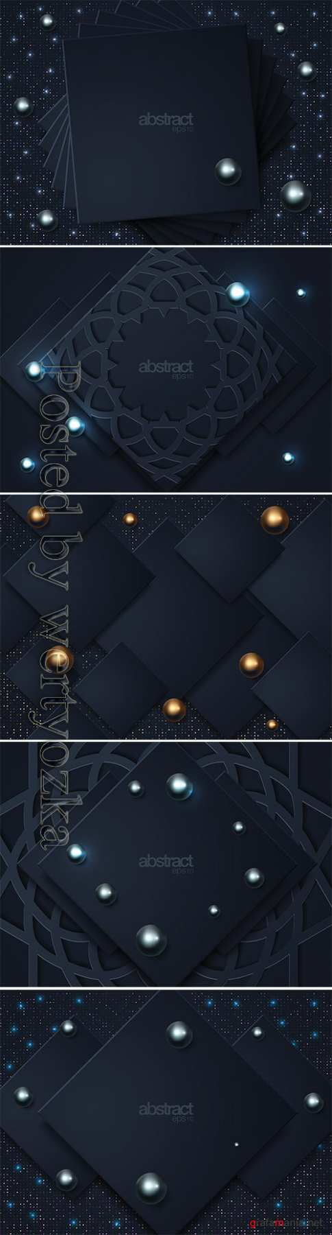 Abstract 3d background with pearls