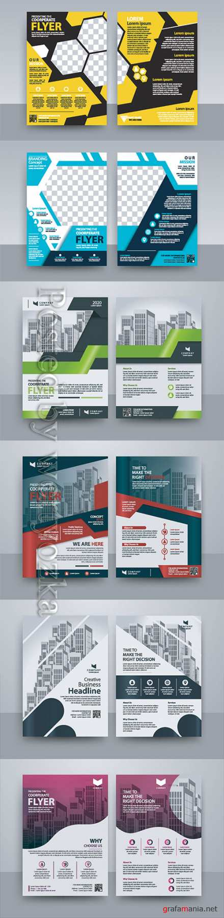 Business vector template for brochure, annual report, magazine