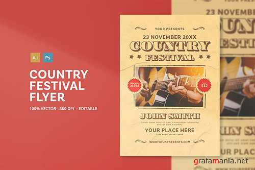 Country Festival Flyer PSD