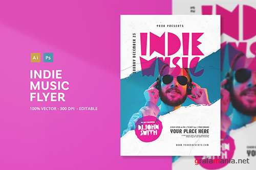 Indie Music Flyer PSD