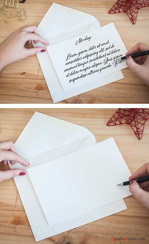 Hands Writting a Letter on a Desktop Mockup 301234635 PSDT