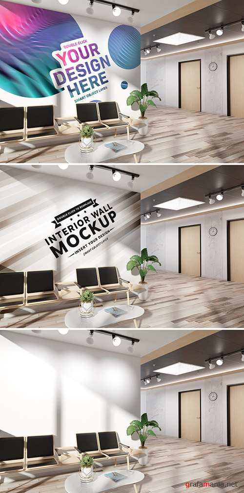 Wall in Office Lobby Mockup 261067494 PSDT