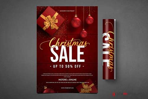 Christmas Sale Flyer PSD