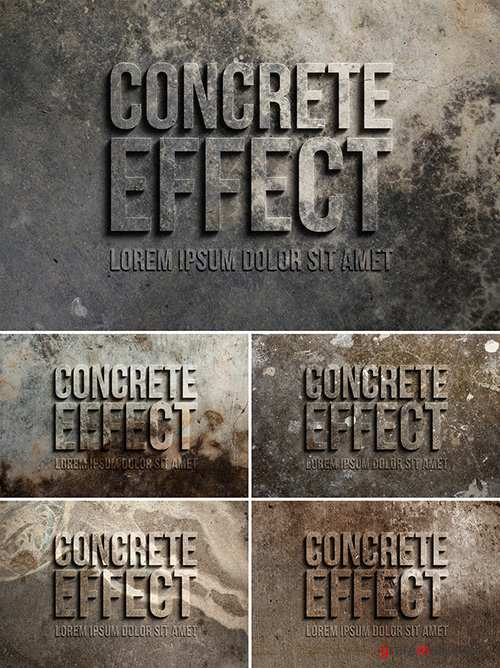 3D Concrete Text Effect 305784283 PSDT