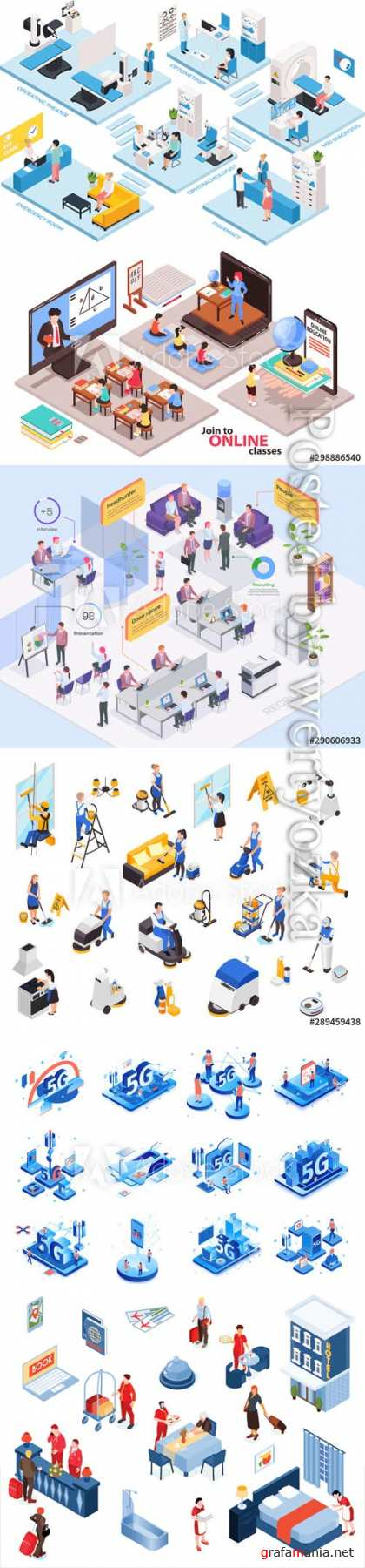 Flat isometric vector 3D concept illustration # 86