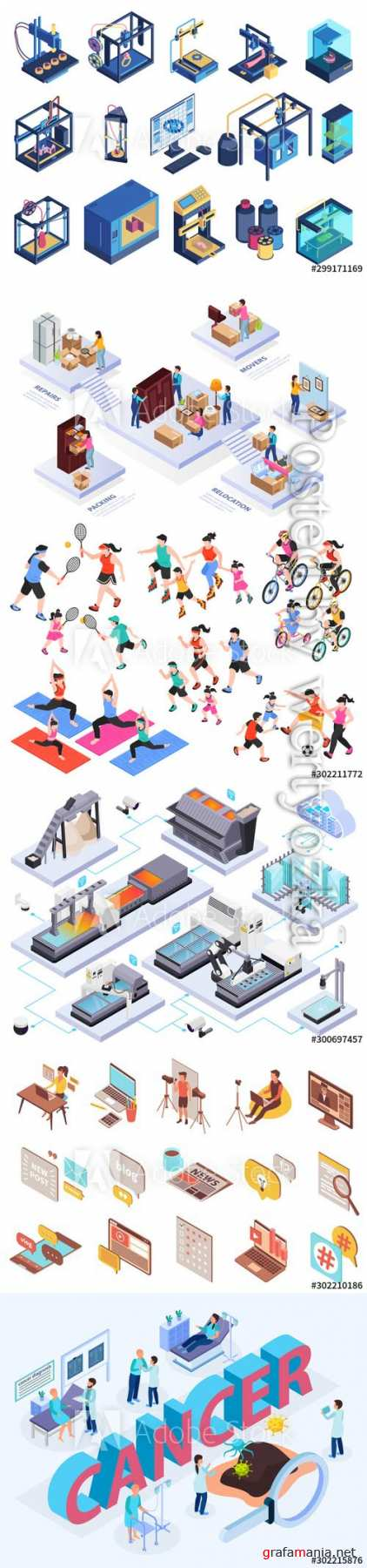 Flat isometric vector 3D concept illustration # 81