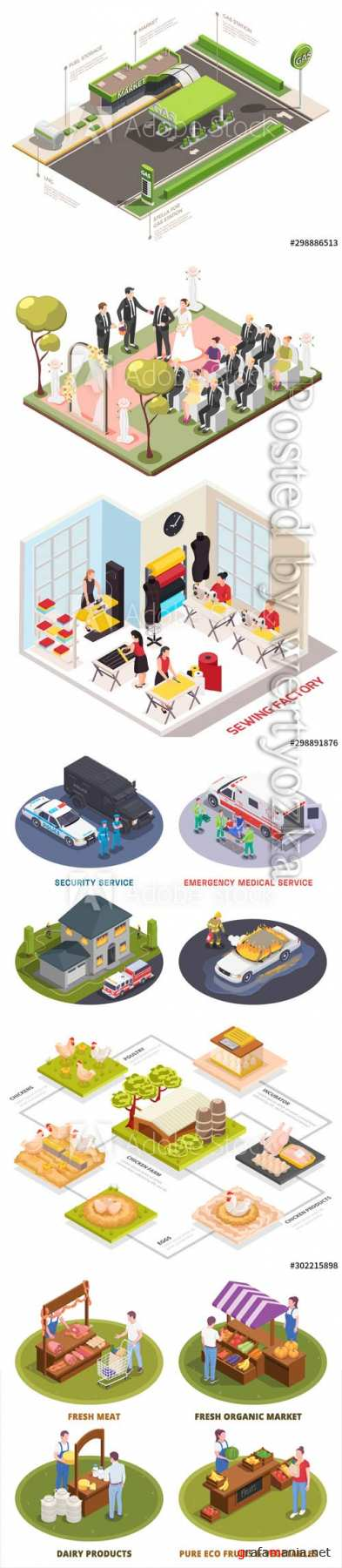 Flat isometric vector 3D concept illustration # 82