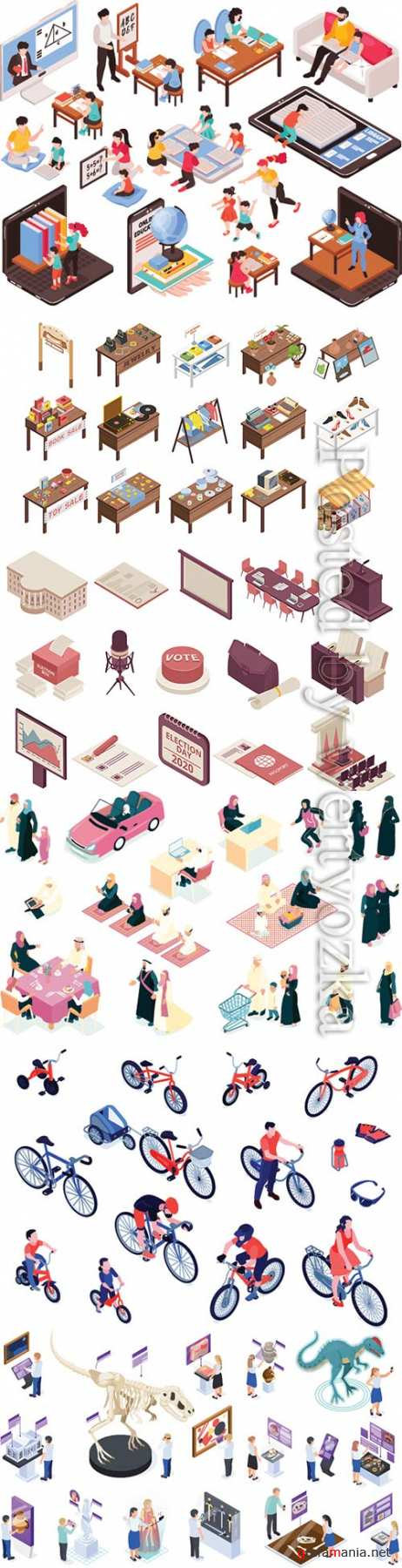 Flat isometric vector 3D concept illustration # 80