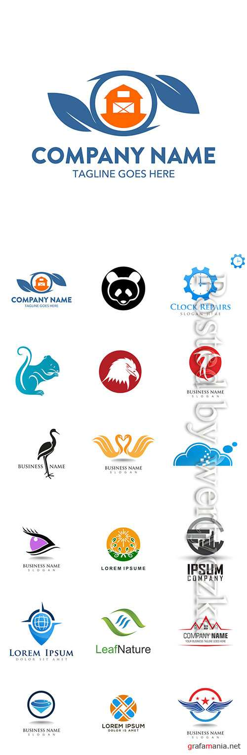 Company business logo in vector # 4