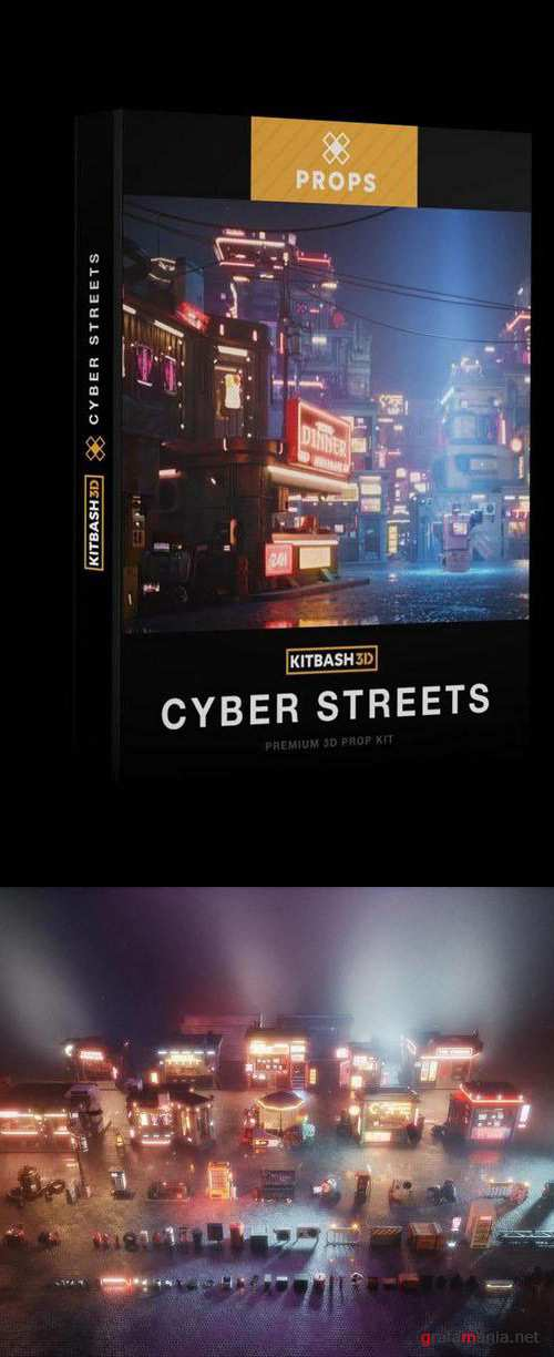 KitBash3D - Props - Cyber Streets