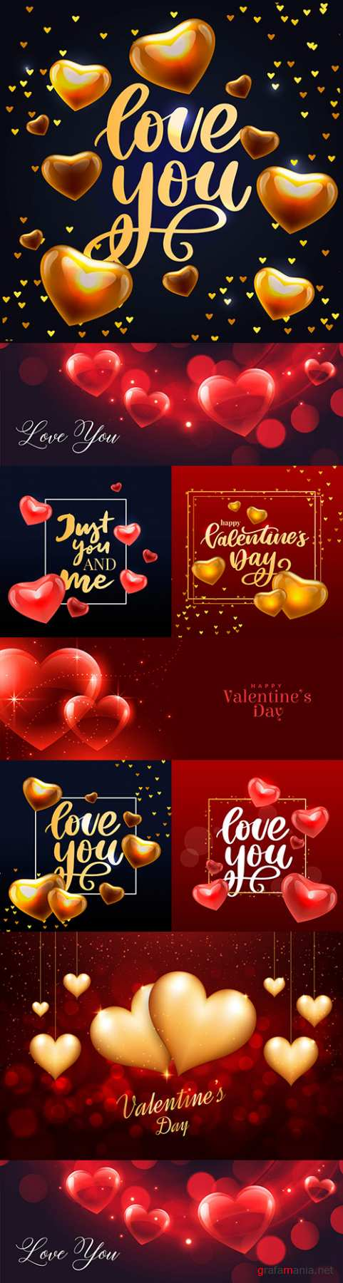 Valentine's Day romantic elements decorative illustrations 19