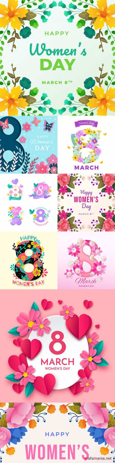 March 8 Women's Day illustration design concept 3