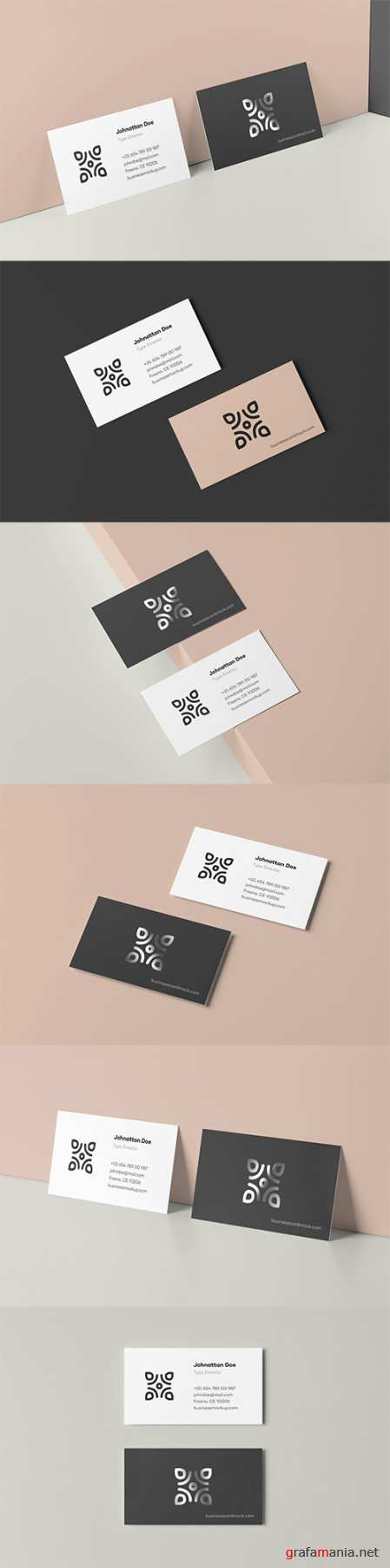 Business Card Mock-up 90x50