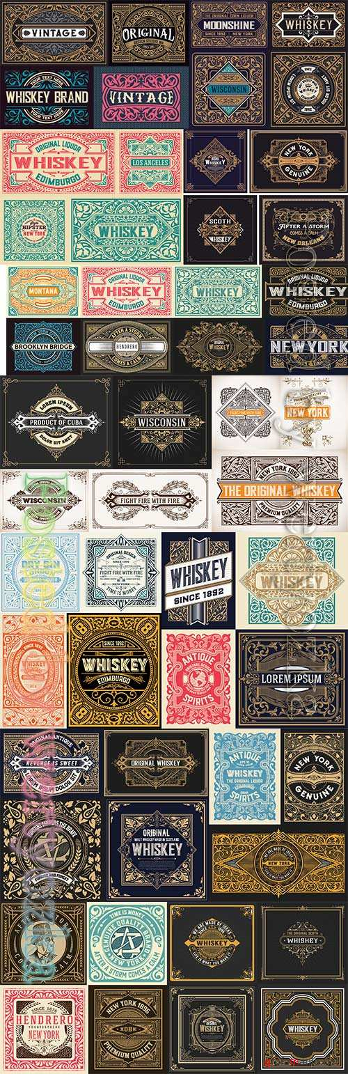 Pack of vector vintage labels