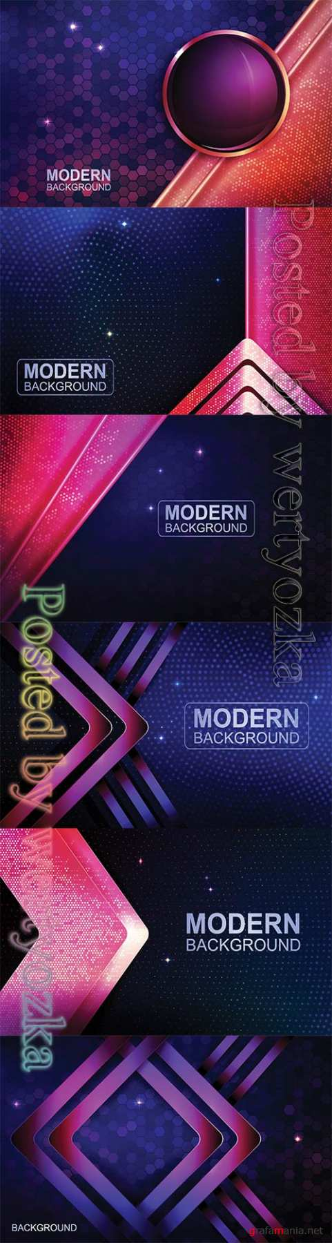 Abstract luxury vector backgrounds with different shapes