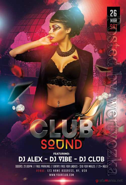 Club sound - Premium flyer psd template