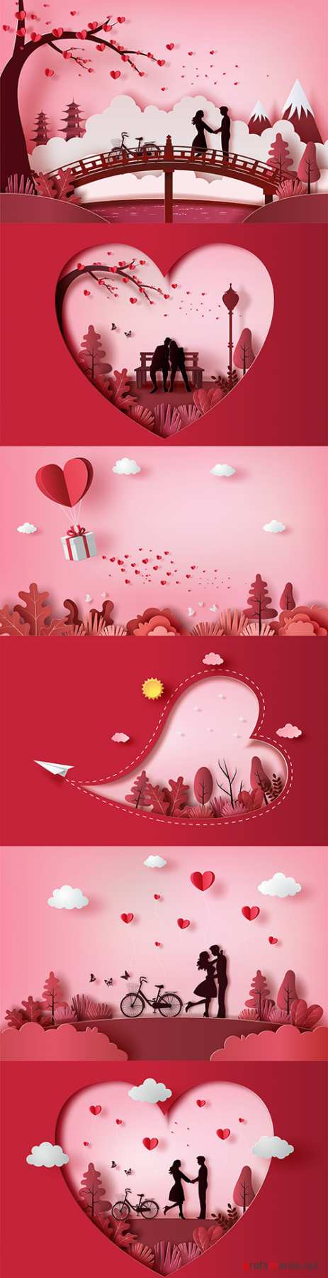 Happy Valentine's Day romantic decorative illustrations 35