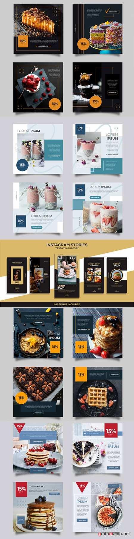 Social media instagram post design templates 3